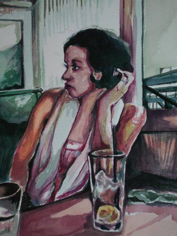Art Print featuring the painting After Lunch What Then by Aleksandra Buha