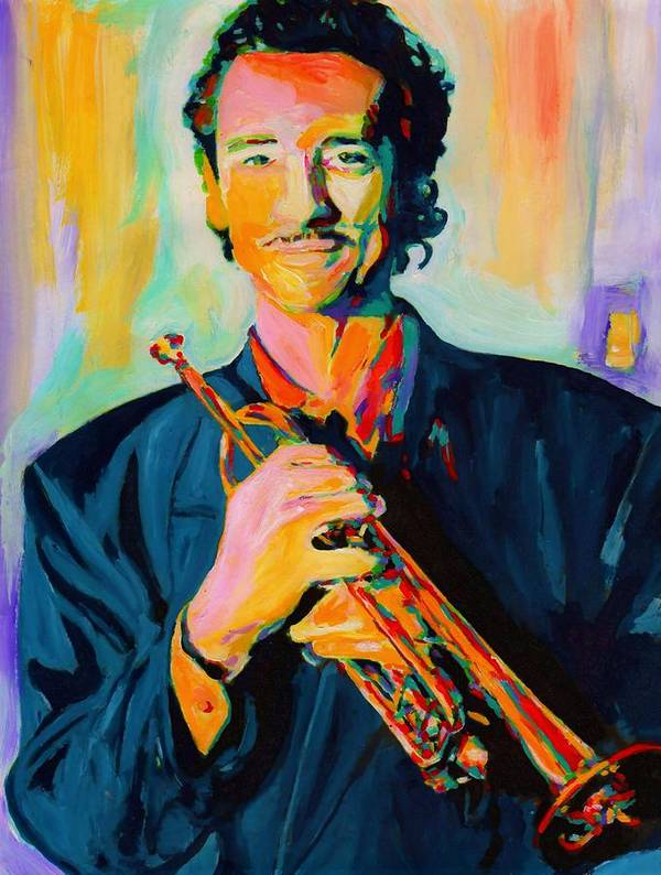 Big Band Art Print featuring the painting Al Vizzitti by Vel Verrept