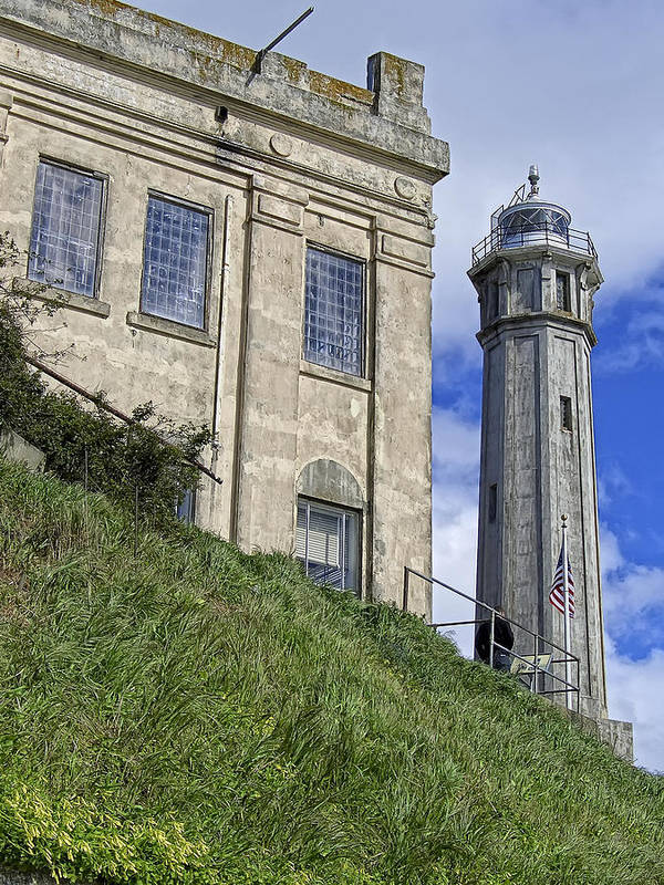 Alcatraz Art Print featuring the photograph Alcatraz Cell House And Lighthouse by Daniel Hagerman