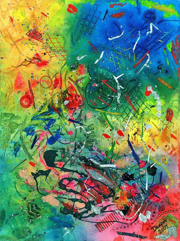 Abstract Art Print featuring the painting All The Kings Horses And All The Kings Men by James Douglas Draper
