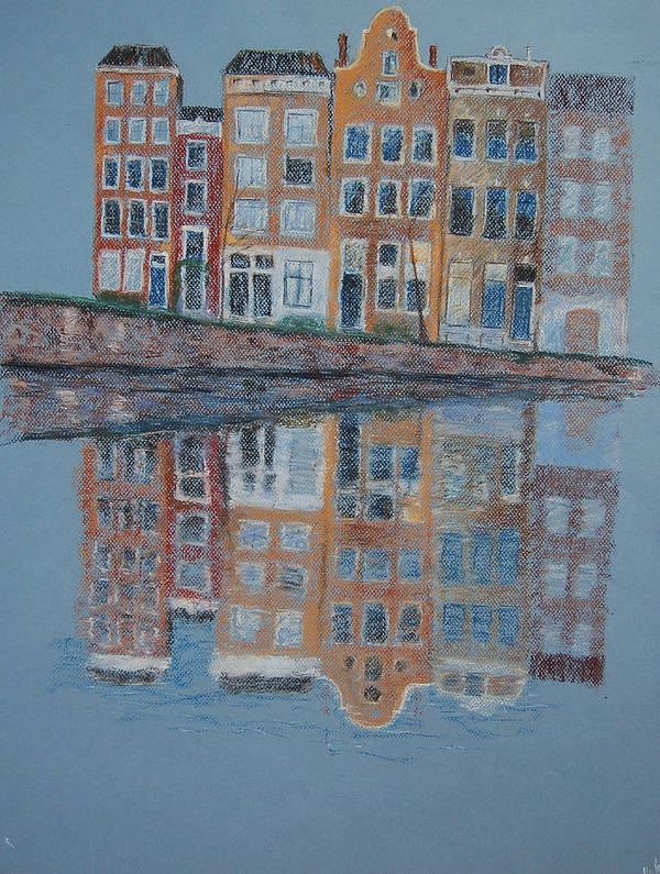 Pastel Art Print featuring the painting Amsterdam by Marina Garrison