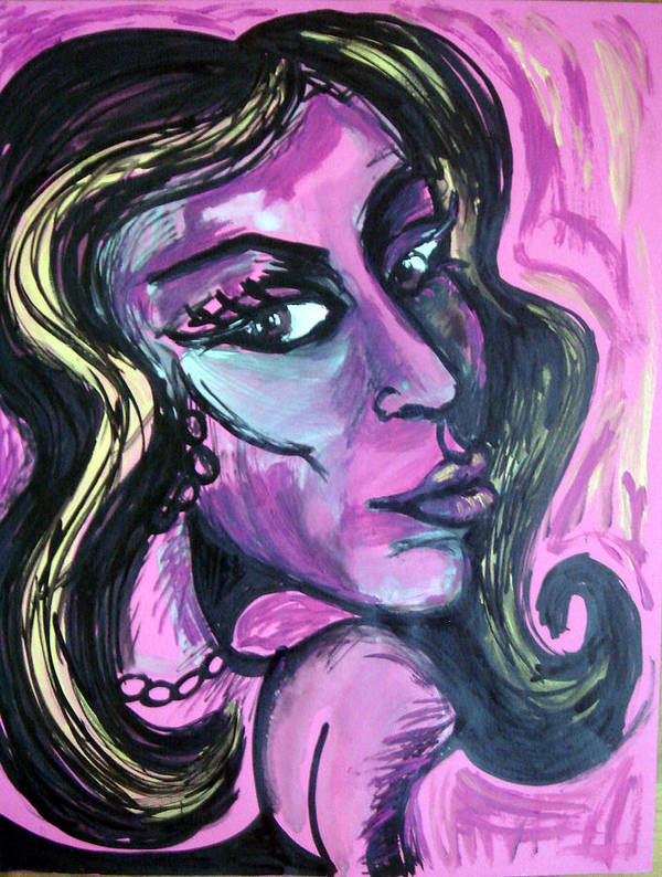 Amy Winehouse Art Print featuring the painting Amy Amy Amy by Jenni Walford