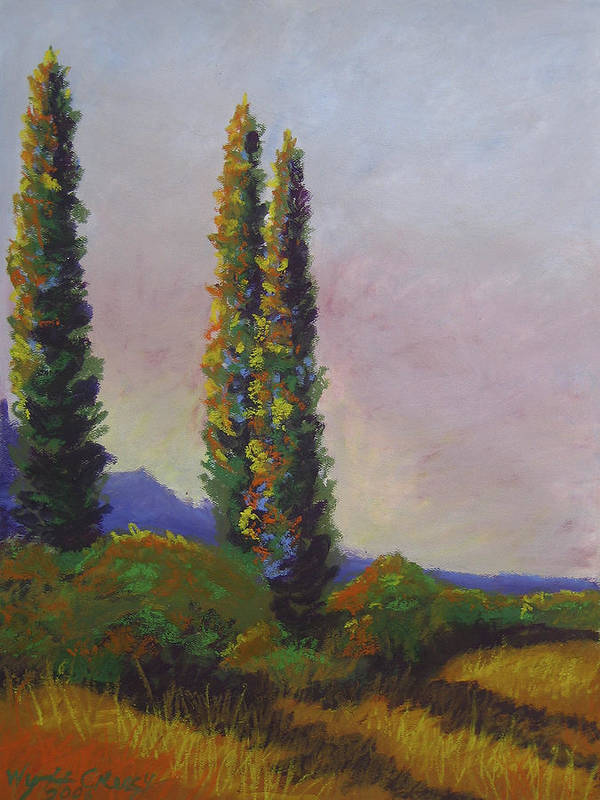 Sky Art Print featuring the painting An Afternoons Vision by Wynn Creasy