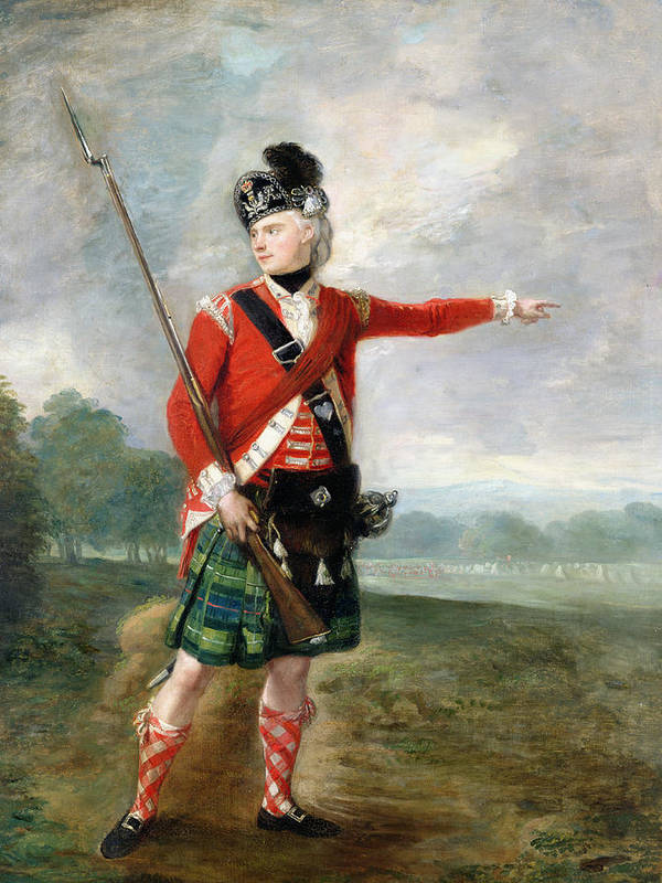 An Officer Of The Light Company Of The 73rd Highlanders Art Print featuring the painting An Officer Of The Light Company Of The 73rd Highlanders by Scottish School