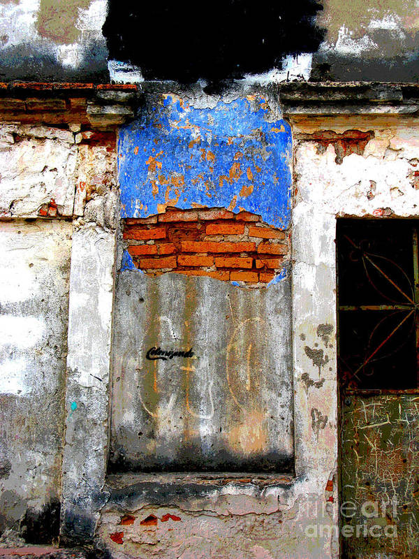 Darian Day Art Print featuring the photograph Ancient Wall 5 By Darian Day by Mexicolors Art Photography
