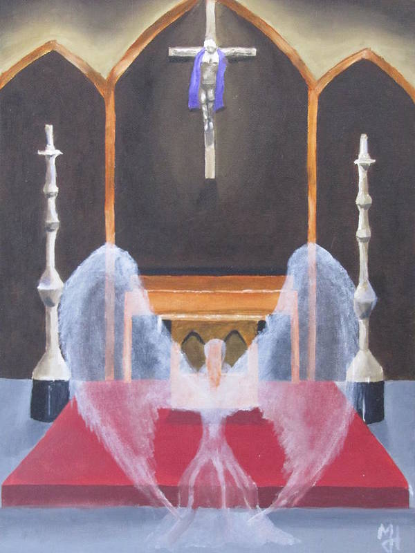 Angel Art Print featuring the painting Angel by Michael Holmes