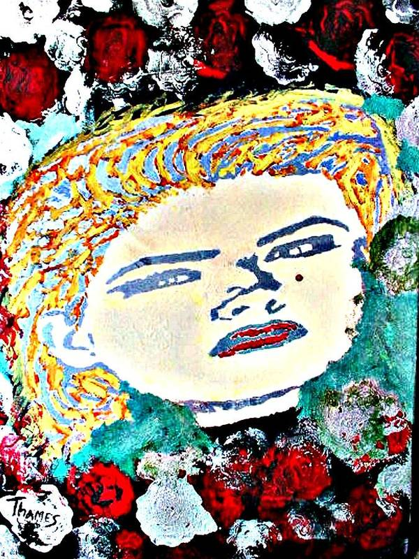 Girl Art Print featuring the painting Anna Nicole by Christopher Thames