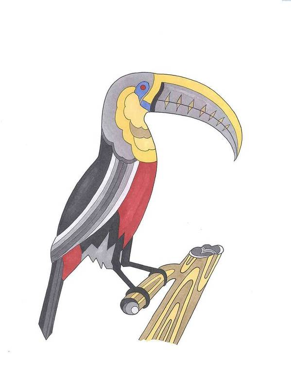 Toucan Art Print featuring the mixed media Assignment 13 by David Seter