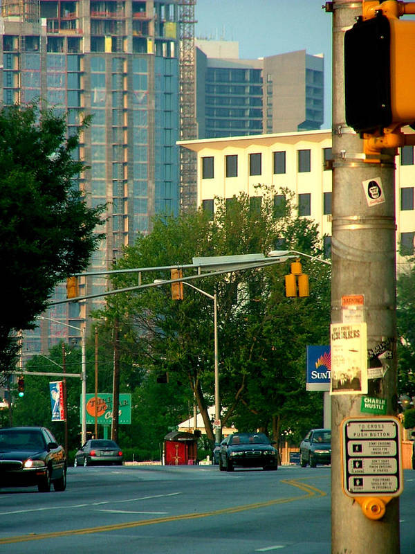 Streetscape Art Print featuring the photograph Atlanta Street Scape by Donna Thomas