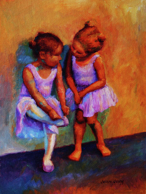 Ballerina Art Print featuring the painting Ballerina Secrets by Jeanne Young