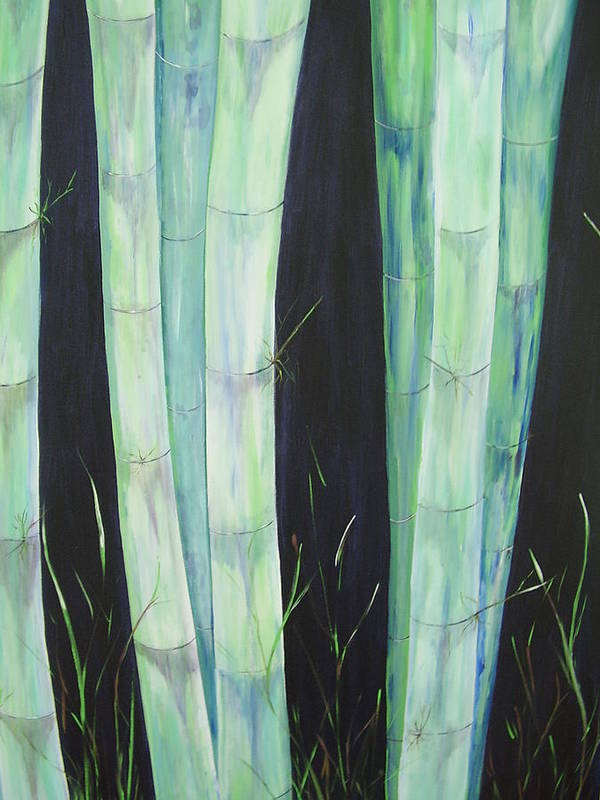 Bamboo Art Print featuring the painting Bamboo by Murielle Hebert