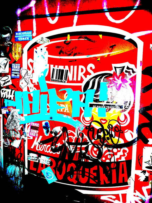 Graffiti Art Print featuring the photograph Barcelona Street Graffiti by Funkpix Photo Hunter
