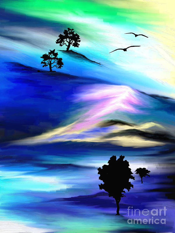 Psychedelic Art Print featuring the painting Barren by Jo Baby