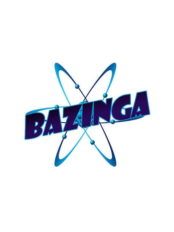 Bazinga Big Bang Theory Print featuring the drawing Bazinga - Big Bang Theory by Bleed Art