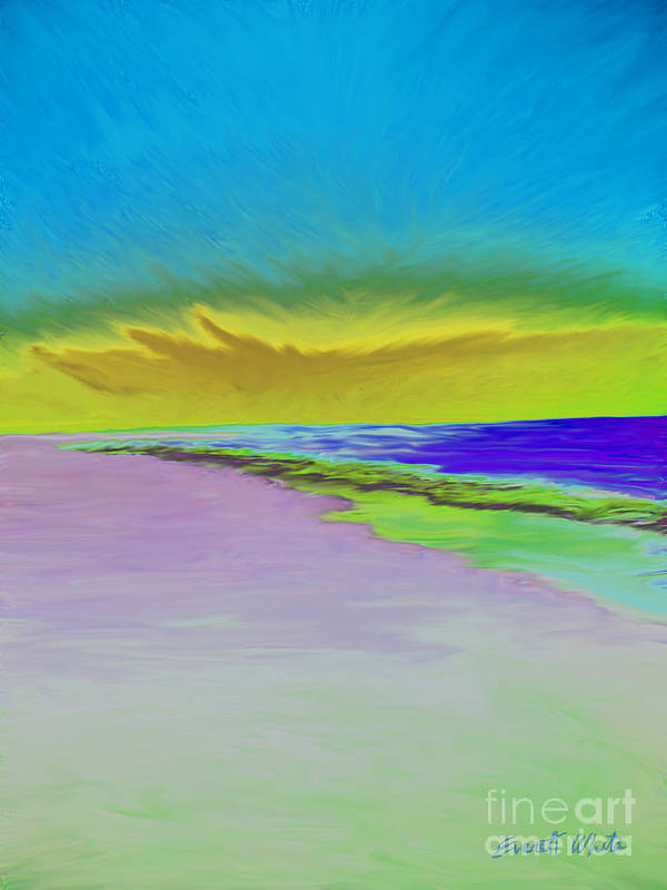 Landscape Art Print featuring the painting Beach by Everett White