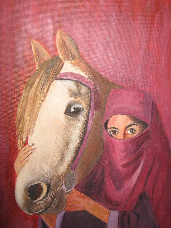 Escape Horse Art Print featuring the painting Behind The Veil by Terri Warner