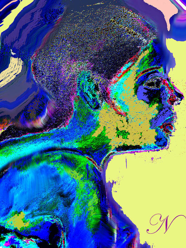 Portrait Art Print featuring the digital art Belong by Noredin Morgan