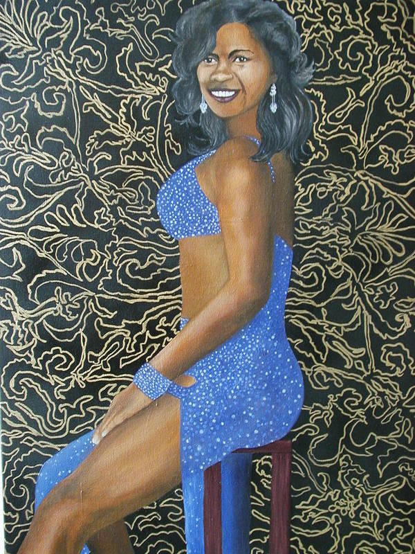 Portrait Art Print featuring the painting Benita As A Dancing Star by Angelo Thomas