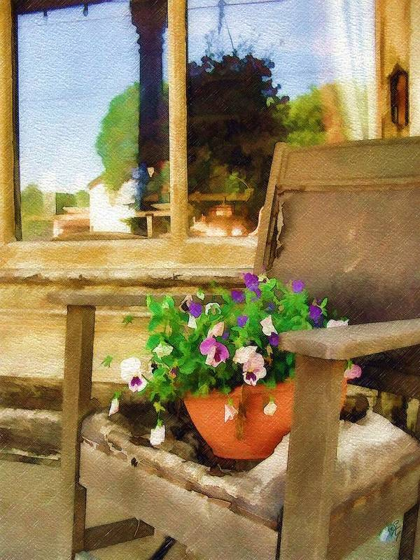 Pansies Art Print featuring the photograph Best Seat In The House by Sandy MacGowan