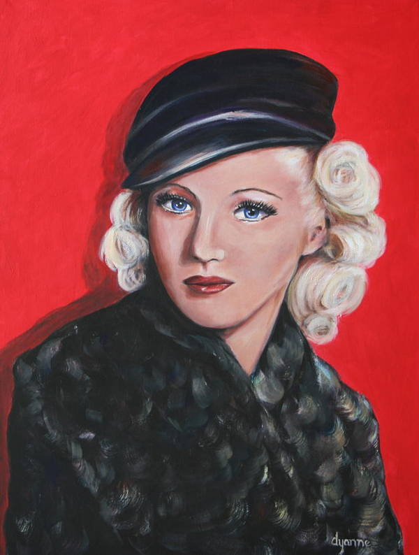 Portraits Art Print featuring the painting Betty Grable by Dyanne Parker