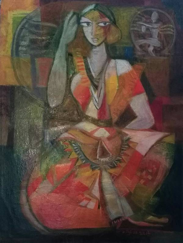 Paintings Art Print featuring the painting Bharathanatiyam by Raja Segar
