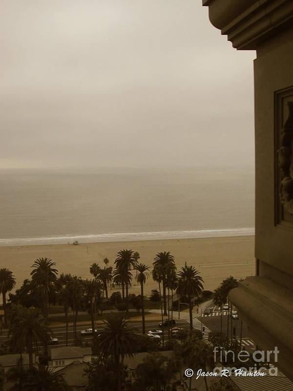 Santa Monica Art Print featuring the photograph Birds Eye In Santa Monica by Jason R Hampton