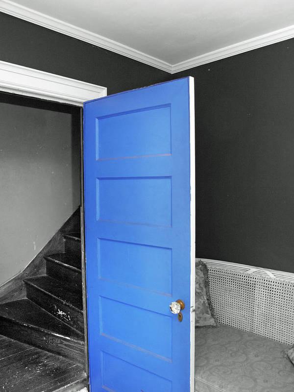 Door Art Print featuring the photograph Blue by Frank Nicolato