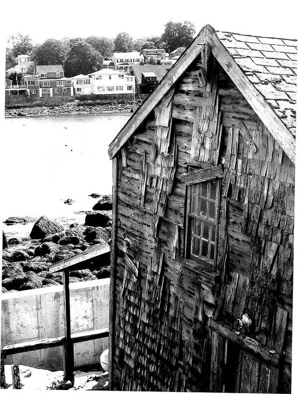 Art Print featuring the digital art Boat House by Donna Thomas