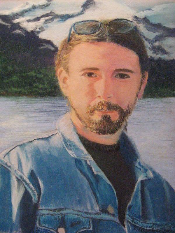 Portrait Art Print featuring the pastel Bobby by Diane Larcheveque