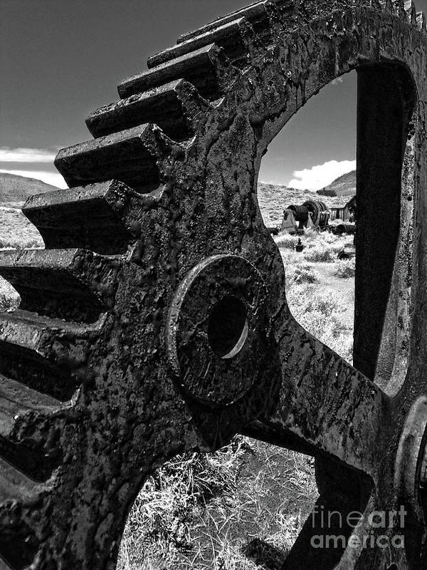 Bodie Ghost Art Print featuring the photograph Bodie Ghost Town Gear by Gregory Dyer