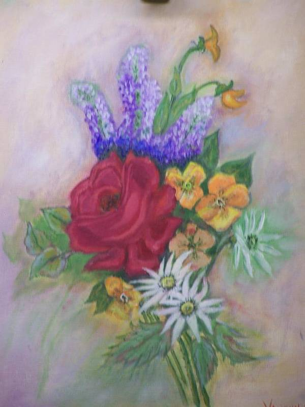 Still Life Art Print featuring the painting Bouquet by Charles Vaughn