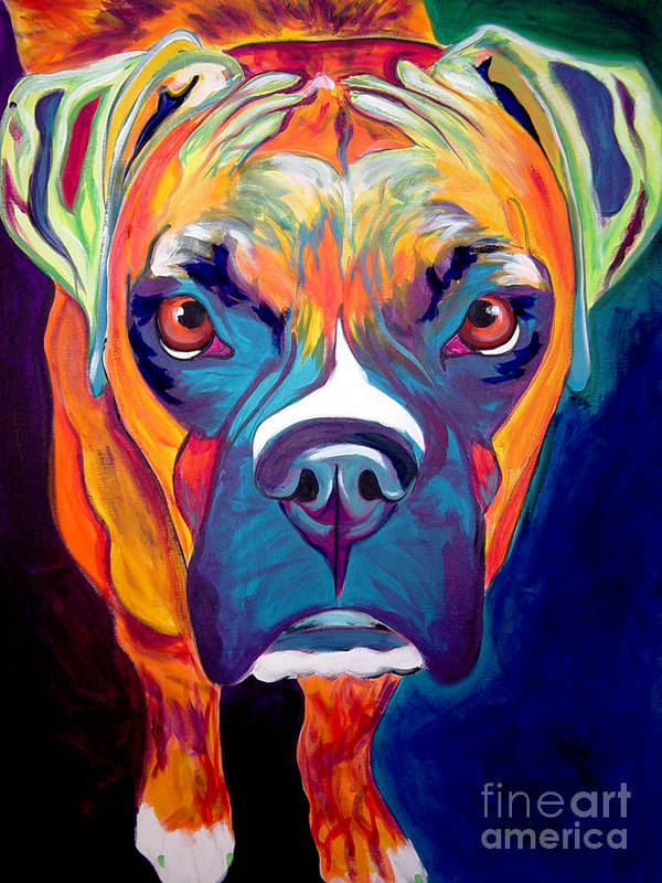 Boxer Art Print featuring the painting Boxer - Harley by Alicia VanNoy Call