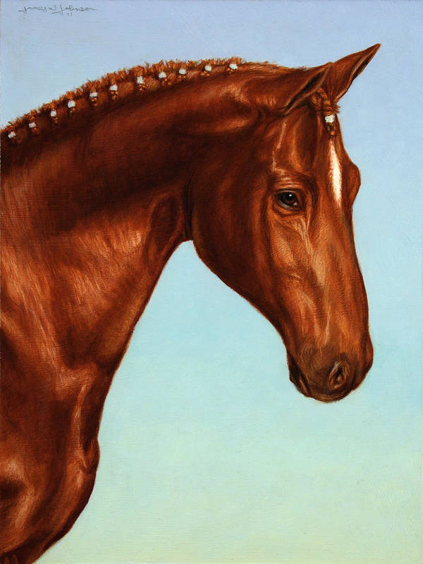 Horse Art Print featuring the painting Braided by James W Johnson