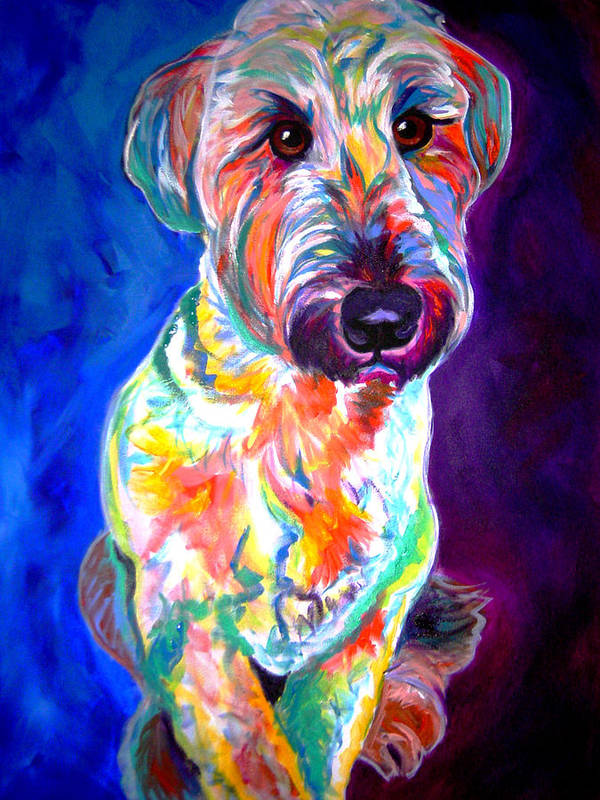 Briard Print featuring the painting Briard - Albert by Alicia VanNoy Call