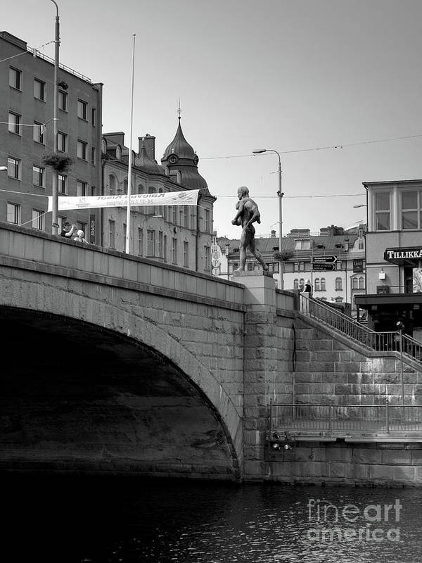 Fine Art Art Print featuring the photograph Bridge by Tapio Koivula