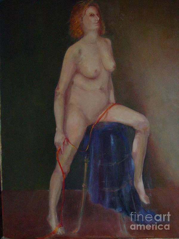 Figure Art Print featuring the painting Caitlin Copyrighted  by Kathleen Hoekstra