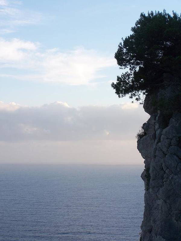 Capri Art Print featuring the photograph Calm Sea At Dusk by Adam Schwartz