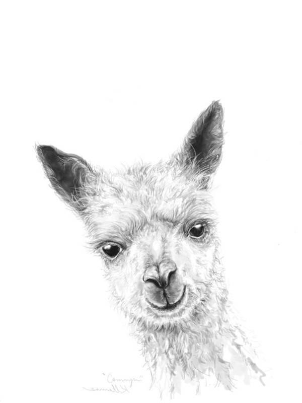 Llama Art Art Print featuring the drawing Camryn by K Llamas
