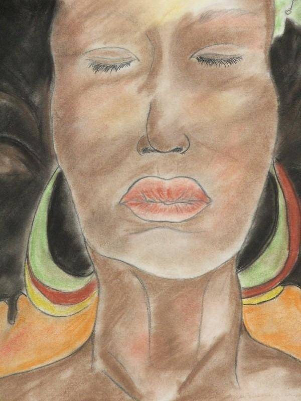 Woman Art Print featuring the pastel carribean soUL by Taylor Lacey