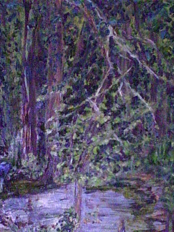Landscape Art Print featuring the painting Casa Mesa by Impressionist FineArtist Tucker Demps Collection