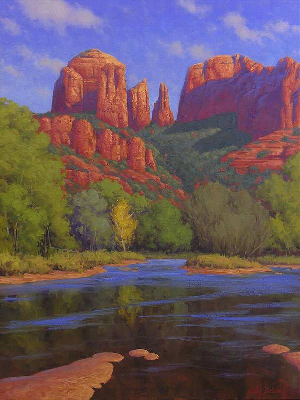 Sedona Art Print featuring the painting Cathedral Morning by Cody DeLong