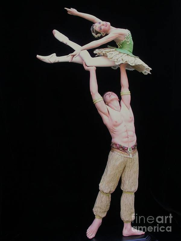 Ballet Art Print featuring the sculpture Celle Qui Vole Or She Who Flies by Vickie Arentz