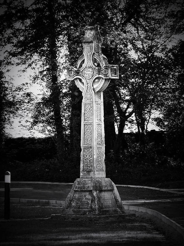 Irish Art Print featuring the photograph Celtic Cross In Killarney Ireland by Teresa Mucha