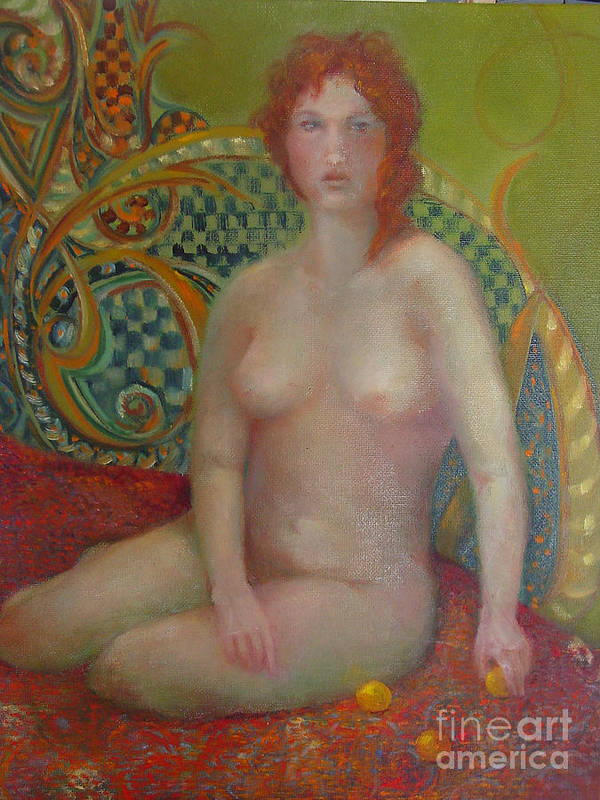 Contemporary Figure Art Print featuring the painting Celtic Woman Copyrighted by Kathleen Hoekstra