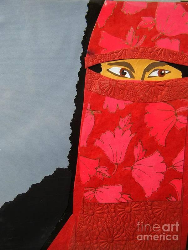 Woman Art Print featuring the mixed media Chador by Debra Bretton Robinson