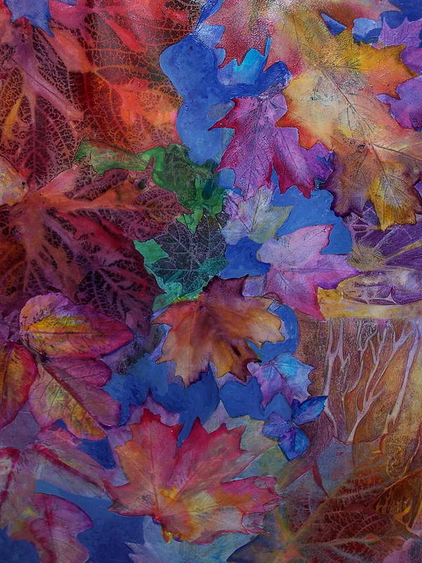 Leaves Art Print featuring the mixed media Chaos In The Brain by Vijay Sharon Govender
