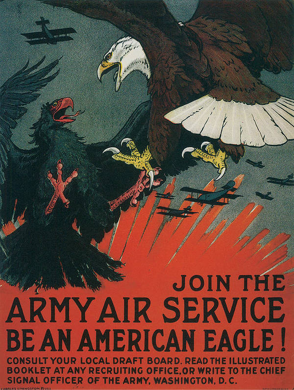 join The Army Air Service Be An American Eagle Art Print featuring the digital art Join The Army Air Service by Define Studio