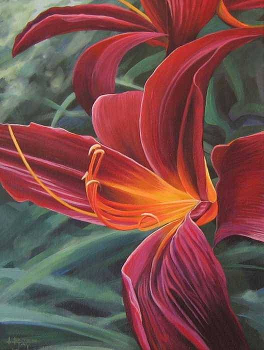 Lily Near Cheesman Park Art Print featuring the painting Chase The Sun by Hunter Jay