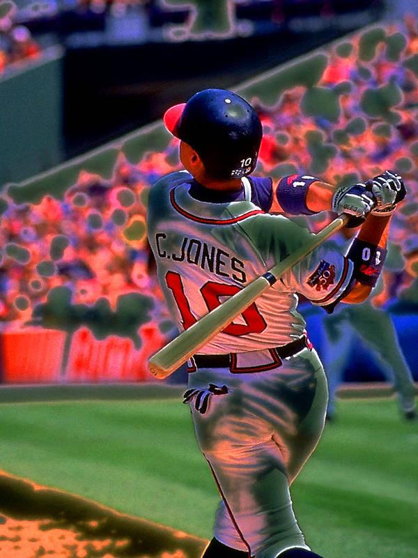 Baseball Art Print featuring the photograph Chipper Jones by Rod Kaye