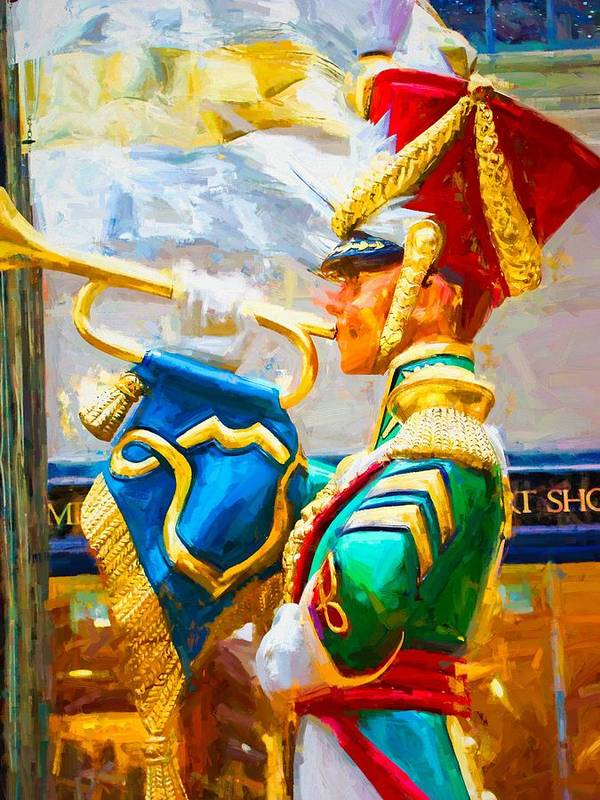 Alicegipsonphotographs Art Print featuring the photograph Christmas Trumpet by Alice Gipson